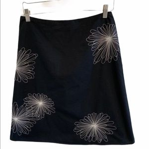 Ladies Black A-line Skirt in Size 4